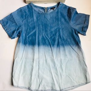 🍩 1250 Degrees Celsius Blue Tie Dye Top Size M